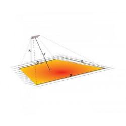 Riscaldatore a infrarossi 2000W con piantana