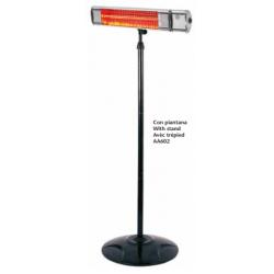 Riscaldatore a infrarossi con piantana e telecomando da 2000 W